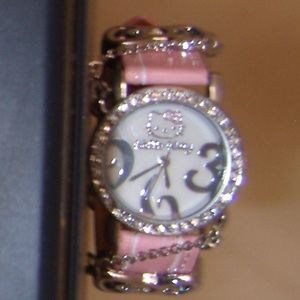 Vintag Hello Kitty Leather Band Wrist Watch